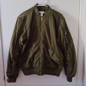 H&M Bomper Jacket Olive